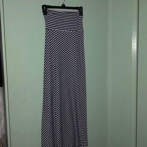 Long Blue Maxi Skirt
